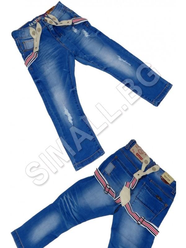 1a256b173d6 Детски дънки с тиранти за момчета от 4 до 16 години   SiMALL Онлайн Магазин