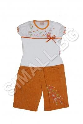 Детски комплект панталон и блузка за момиченца от 1 до 4 годинки
