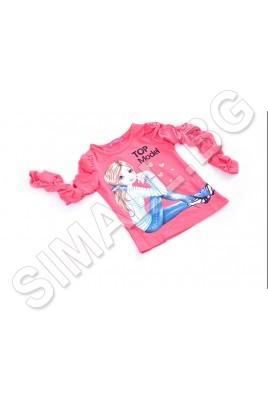 Блуза с щампа за момичета от 3 до 8години