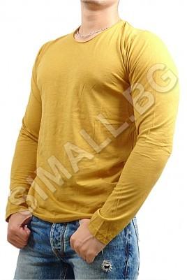 Мъжка изчистена блуза с дълъг ръкав в 4 цвята