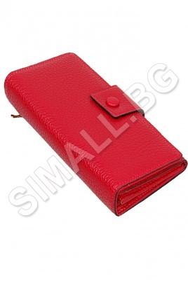 Дамско портмоне с отделения за банкноти,карти и разделителен джоб с цип в 7 цвята