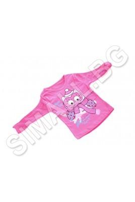 Детска блузка за момичета от 1 до 4 години в цикламен цвят