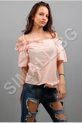 Дамска елегантна блуза с къдрици в 4 цвята